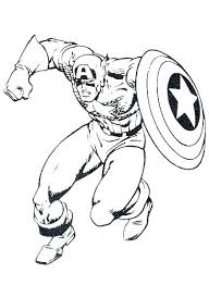 Black Panther Coloring Pages Captain Civil War Picture