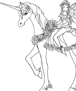 Related Coloring Pages ADULT COLORING PAGES Set Of Five Digital Downloads Fantasy Unicorn And Fairy