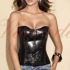 1331 black faux leather corset original retail price 89 95