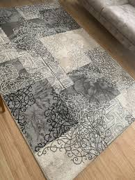 teppich grau schwarz beige 160x200