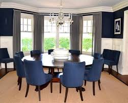 Elegant Navy Dining Room Chairs Houzz Home Intended For Inspirations 6
