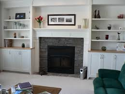 Decorating Bookshelves In Family Room by Fireplaces With Bookshelves On Each Side Shelves By Fireplace