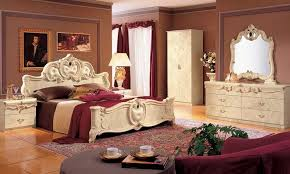 schlafzimmer barocco beige hochglanz