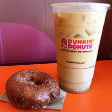 Dunkin Donuts Pumpkin Donut Ingredients by Pumpkin Donut And A Free Iced Coffee With Caramel Swirl And Cream