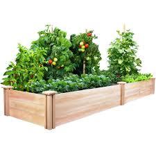 greenes fence 2 ft x 8 ft x 10 5 in cedar raised garden bed