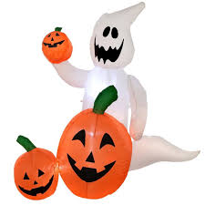Halloween Airblown Inflatable Lawn Decorations by Inflatable Halloween Airblown Pumpkin Garden Decoration Out In