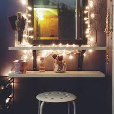Diy Makeup Desk Ikea Vanity Table Using Floating Shelves Baskets
