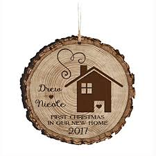 Personalized Our First New Home Christmas Holiday Gift Ornament 2017 Custom Housewarming Ideas For Couple