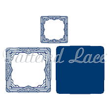 100 Art Deco Shape Card Square 443676 Tattered Lace