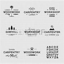 Trendy Vintage Woodwork Icon Set High Quality Design Elements