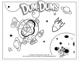 Outer Space Coloring Pages From DumDumPops Download PDF