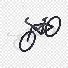 Black Bike Isometric Icon 3d On A Transparent Background Vector Illustration Stock