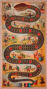 The Game Of Sociable Snake C 1890 McLoughlin Brothers New York Old Board GamesVintage