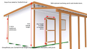 12x20 Shed Plans With Porch by 8 X 10 Shed Plans Youtube Picturesque 16 Vitrines