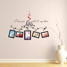 baise dans la chambre oiseaux d amour cadre photo stickers muraux salon chambre baiser