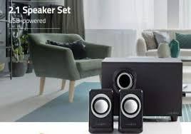 details zu design lautsprecher 2 1 box boxen für pc computer laptop system gaming 33w sound