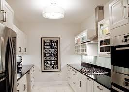 inspiring galley kitchen lighting looks lights in