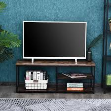 homcom tv lowboard braun schwarz 120 x 40 x 45 cm bxtxh tv regal fernsehregal regal tv board sideboard