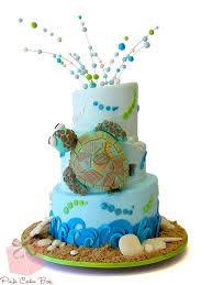 Beach Themed Cakes  Pink Cake Box Custom Cakes & more