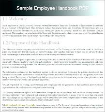 Company Policies And Procedures Template Hr Manual