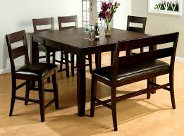 furniture wonderful bench seat dining set gallery table rustic