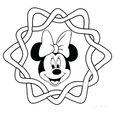 Full Image For Minnie Mouse Face Coloring Pages And Mickey Printable