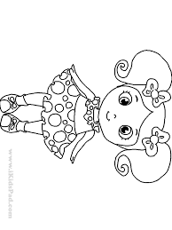 Little Girl Coloring Pages Printable Free Dolls Book For Kids