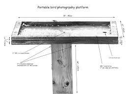 Portable bird photography feeder platform