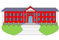 High School Building Clipart