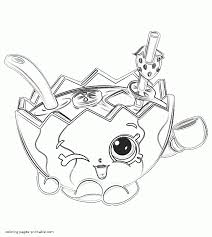 Shopkins Season 7 Coloring Pages Mallory Watermelon Punch