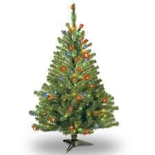 4 Ft Pre Lit Multicolor Kincaid Spruce Artificial Christmas Tree