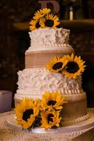 Sunflower Cakes Simple D61ebbfd52a414d37e9f8f39836326eb Rustic Sunflowers Cake Wedding