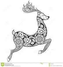 Zentangle Vector Reindeer For Adult Anti Stress Coloring Pages
