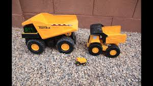 100 Big Toy Dump Truck BIG Tonka Metal S Backhoe Front Loader YouTube