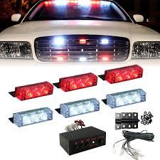 100 Truck Strobe Lights Red White 18 LED Emergency Vehicle Car Flash Front