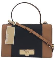 michael kors handbag tote bag cross body brown black messenger