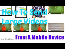 How To Send Files Videos From A Mobile Device iPhone iPad
