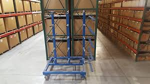 Uline Cantilever Wire Cart Double Sided Shelving Length 54quot Width