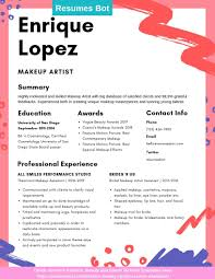 Makeup Artist Resume Samples And Tips [PDF+DOC Templates ... Makeup Artist Resume Sample Monstercom Production Samples Templates Visualcv Graphic Free For New 8 Template Examples For John Bull Job 10 Rumes Downloads Mac Why It Is Not The Best Time 13d Information Awesome Cv