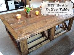 Awesome Rustic Coffee Table Regarding Diy Design 19