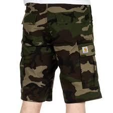 carhartt regular cargo shorts camo green rinsed