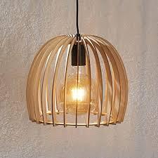 lindby pendelleuchte bela skandinavisch aus holz ua für wohnzimmer esszimmer 1 flammig e27 a hängeleuchte esstischle hängele