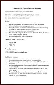 Here Goes Another Free Resume Example Of Call Center Director You Can Preview It Sample Type Your Address
