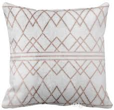 24 X 24 Patio Cushion Covers by Throw Pillow Case Chic Modern Faux Rose Gold Geometric Triangles