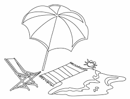 Umbrella Coloring Pages At The Beach