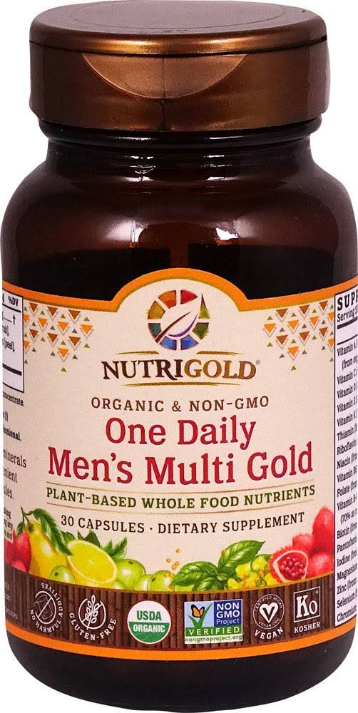 Nutrigold Multi Gold, One Daily, Organic, Men's, Capsules - 30 capsules