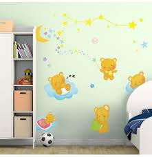 kinder schlafzimmer hintergrund dekoration bär mond reizendes wand aufkleber