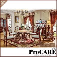 europäischen design klassische royal home möbel massivholz lange esszimmer möbel mit esstisch