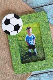Easy Decoupage Craft Idea For Kids Soccer Memory Frame
