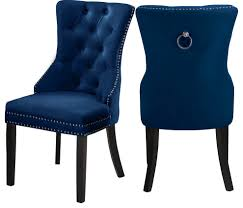 Nikki Velvet Dining Chairs, Set Of 2, Navy Fairy Contemporary Fabric Ding Chairs Set Of 2 Navy Blue Shelby Chair In Channel Tufted Velvet By Meridian Fniture Hanover Mcer 5piece Patio With 4 Cushioned And A 40inch Square Table Mercdn5pcsqnvy Colston Silver Leaf Including Brookville Harley Traditional Microfiber Details About Bates New Opal Room Gold William